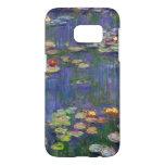 Lirios de agua impresionistas azules de Monet Funda Samsung Galaxy S7