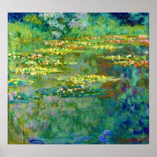 Lirios de agua - Le Bassin des Nympheas de Monet Póster