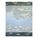 Lirios de agua, Monet, flores del impresionismo de Tarjetón