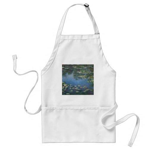 Lirios de agua, Monet, flores del impresionismo Delantales