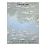 Lirios de agua, Monet, flores del impresionismo Membrete