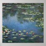 Lirios de agua, Monet, flores del impresionismo Posters