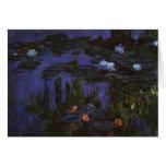 Lirios de agua, Monet, flores del impresionismo Tarjeta De Felicitación