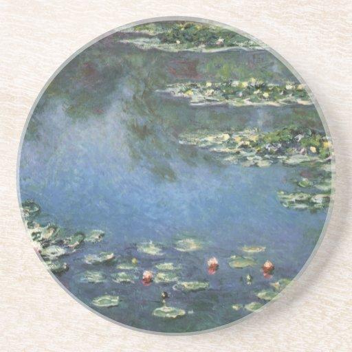 Lirios de agua por impresionismo floral del posavaso para bebida