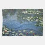 Lirios de agua por impresionismo floral del toalla