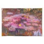 Lirios de agua púrpuras de Monet Placemat Manteles
