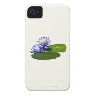 Lirios de agua púrpuras en sol iPhone 4 Case-Mate cárcasas