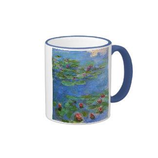 Lirios de agua roja Claude Monet Taza De Café