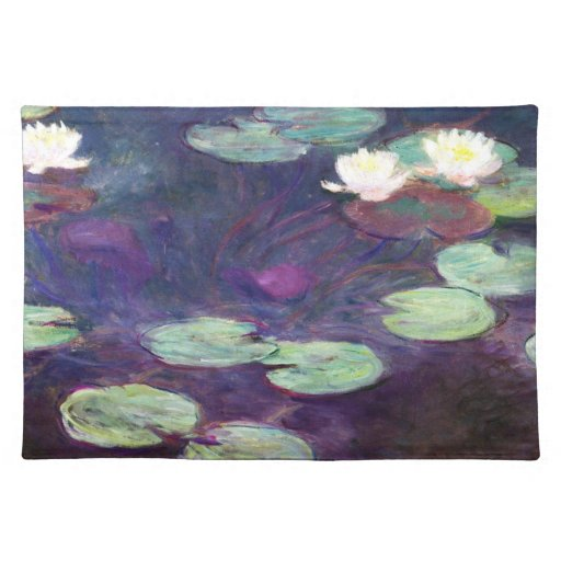 Lirios de agua, rosa, Claude Monet 1897-99 fresco, Mantel Individual