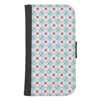 Lirios de agua rosados, caja de la cartera de las funda billetera para teléfono