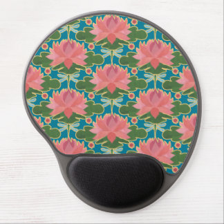 Lirios de agua rosados, gel Mousepad de las Alfombrillas Con Gel
