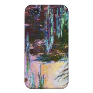 Lirios de agua, sol poniente Claude Monet iPhone 4/4S Fundas
