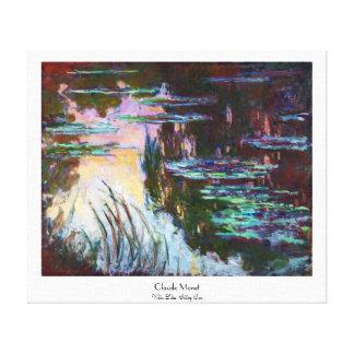 Lirios de agua, sol poniente Claude Monet Lona Estirada Galerias