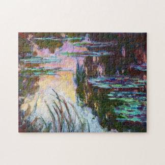 Lirios de agua, sol poniente Claude Monet Puzzle Con Fotos