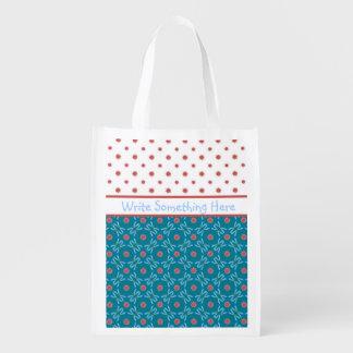 Lirios de agua y libélulas, bolso de compras de bolsa de la compra