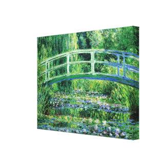 Lirios de agua y puente japonés, Claude Monet Impresión En Lienzo