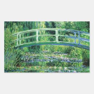 Lirios de agua y puente japonés, Claude Monet Rectangular Altavoz