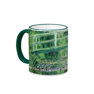 Lirios de agua y puente japonés, Claude Monet Taza