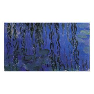 Lirios de agua y ramas del sauce que llora - Monet Plantilla De Tarjeta Personal