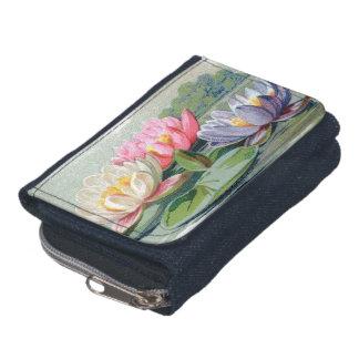 Lirios de charca florales del cojín de lirio del v