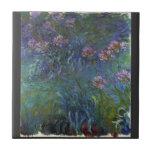 Lirios de la joyería de Claude Monet Tejas Ceramicas