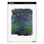 Lirios de la joyería de Claude Monet iPad 3 Pegatinas Skins