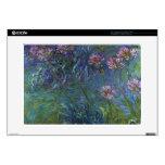 Lirios de la joyería de Claude Monet Portátil Calcomanía