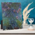 Lirios de la joyería de Claude Monet Placas Con Foto
