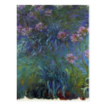 Lirios de la joyería de Claude Monet Postal