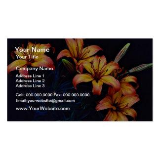 Lirios de la primavera, flores de Tropicana Tarjeta De Visita