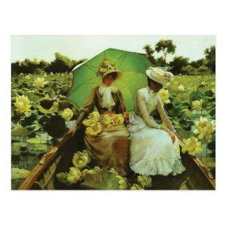 Lirios de Lotus de Charles Courtney Curran Postal