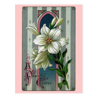 Lirios de pascua del vintage postales