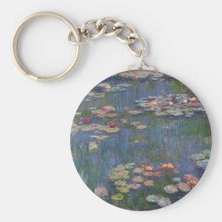 Lirios del agua de Claude Monet Llaveros Personalizados