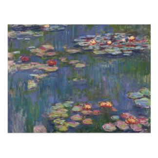 Lirios del agua de Claude Monet Postal