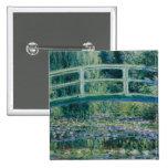Lirios del agua de Claude Monet y puente japonés Pin