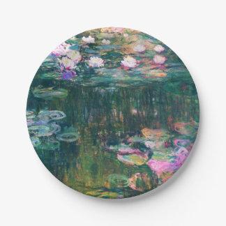 Lirios del agua de Monet Plato De Papel De 7 Pulgadas