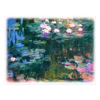 Lirios del agua de Monet Tarjetas Postales