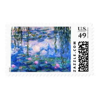 Lirios del agua de Monet Timbres Postales