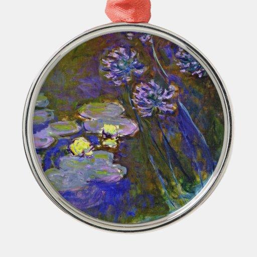 Lirios del agua de Monet y Agapanthus Ornamentos Para Reyes Magos