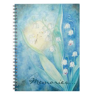 Lirios del arte del valle spiral notebook