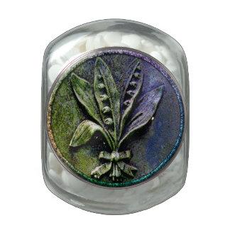 Lirios del cementerio jarras de cristal jelly bely