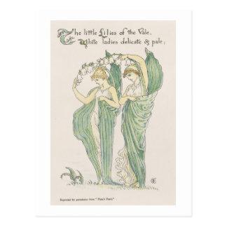 Lirios del valle, de Feast de la flora, 1901 (colo Tarjetas Postales