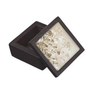 Lirios elegantes del beige del vintage cajas de regalo de calidad