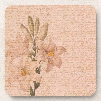 Lirios florales románticos posavasos