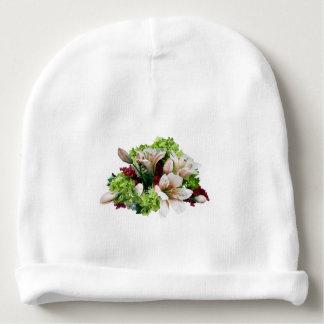 Lirios, Hydrangea y bayas asiáticos Gorrito Para Bebe