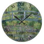 Lirios japoneses del puente y de agua de Claude Mo Reloj
