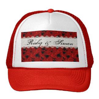 Lirios rojos gorras