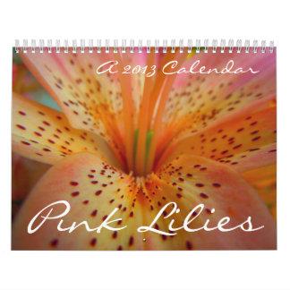 Lirios rosados 2013 calendario