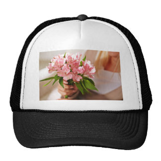 Lirios rosados preciosos gorra