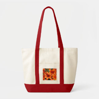 Lirios tigrados anaranjados vibrantes bolsa de mano